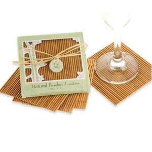 Natural Bamboo Coasters